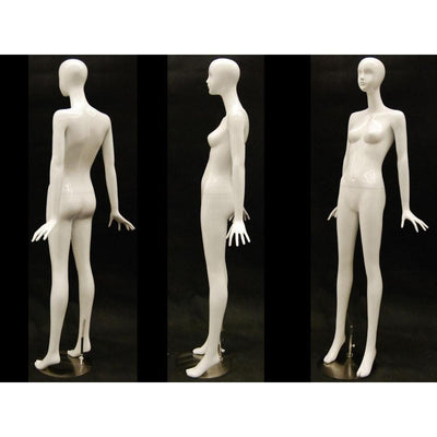 Mannequin Mall White Female Abstract Mannequin MM-IVY2 For Fashion Stores and Retail Shops