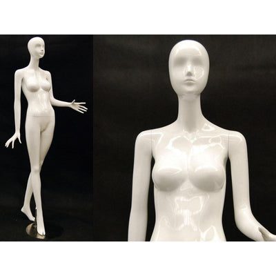 Mannequin Mall White Female Abstract Mannequin MM-IVY3 For Fashion Stores and Retail Shops