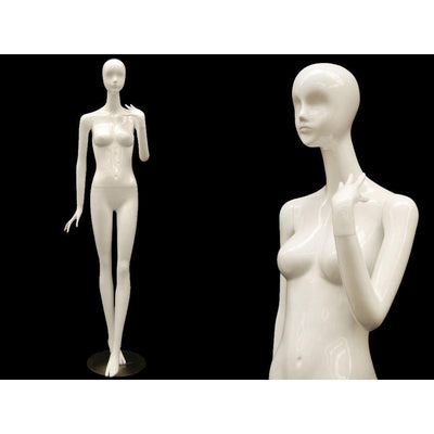 Mannequin Mall White Female Abstract Mannequin MM-IVY4 For Fashion Stores and Retail Shops