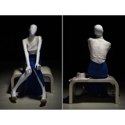 Mannequin Mall White Female Abstract Mannequin MM-OZIW1 For Fashion Stores and Retail Shops