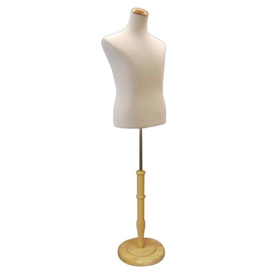 Mannequin Mall White Male French Dress Form With Round Base MM-MFDRB For Fashion Stores and Retail Shops