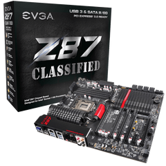 EVGA Z87 Classified (LGA1150) Haswell, EATX, 4 DIMM Dual Channel DDR3 2666MHz Motherboard (152 HW E878 KR)