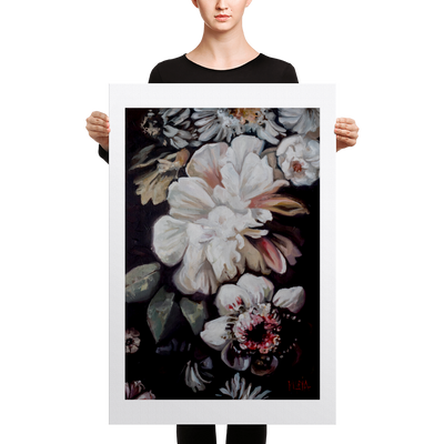 Flowers in Bloom - 24 x 36 Canvas Print