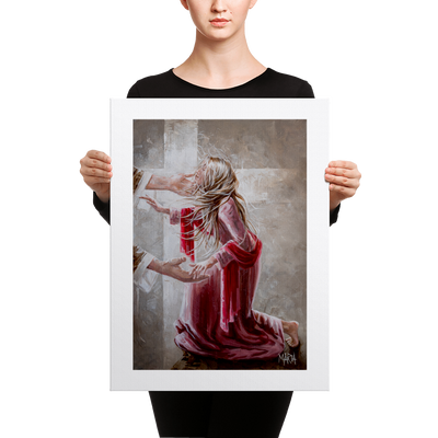 The Red Scarf - 18 x 24 Canvas Print