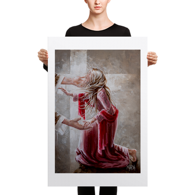 The Red Scarf - 24 x 36 Canvas Print