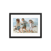 Kids on the beach - 12 x 16 Paper Print
