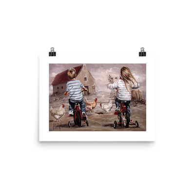 Training wheels - 16 x 12 Paper Print