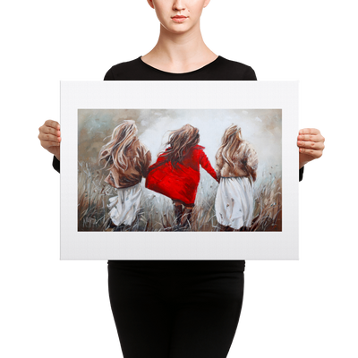 Love Centered Friendship - 18 x 24 Canvas Print