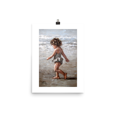 Walk on the beach - 12 x 16 Paper Print