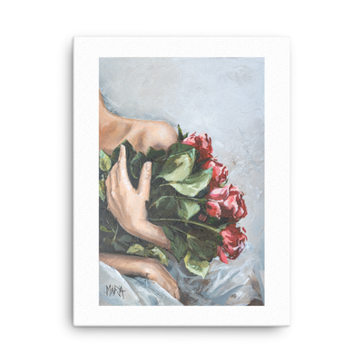Red Roses - 18 x 24 Canvas Print