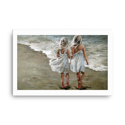 Long walk on the beach - 24 x 36 Canvas Print