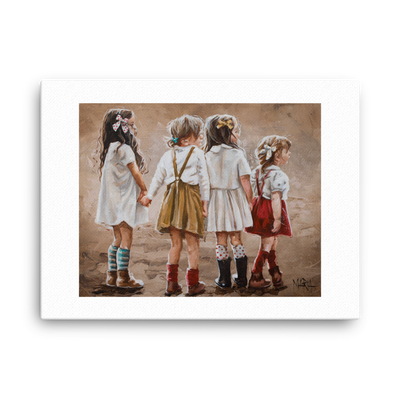 Sweet Friendship - 18 x 24 Canvas Print