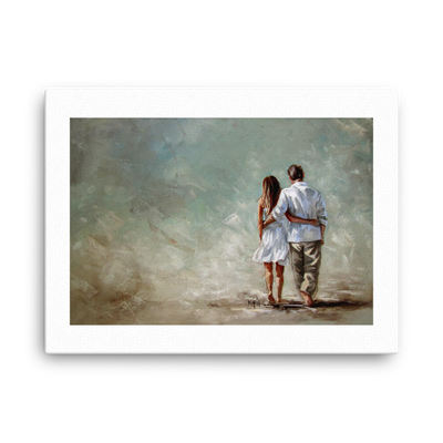 In his arms - 18 x 24 Canvas Print