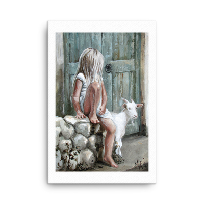 Bella, the goat - 24 x 36 Canvas Print