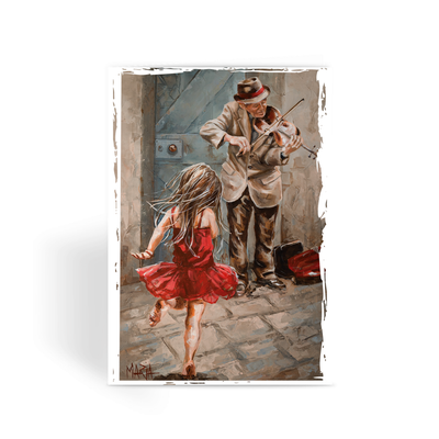 The Violin Player - Greeting Card