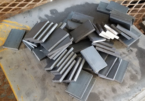 "Discounted Hot-Roll Flat Bar 1/4"" x 1-1/2"" cut to 2-1/4"""