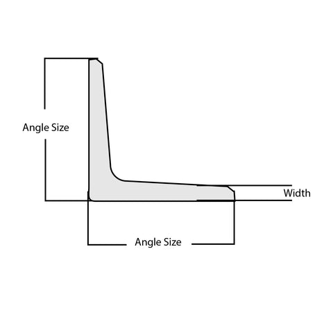 """STAINLESS STEEL ANGLE 2/"""" x 2/"""" x 3//8/"""" x 48/""""  304"""