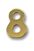 "( 8 ) 2"" Brass Number"