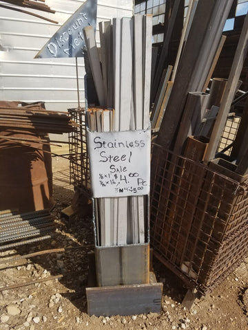 Stainless Steel Flat Bars 304  $4.00 and $5.00