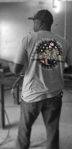 Gray T-Shirt With Iron Worker Logo