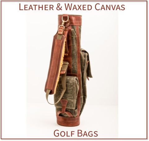 Steurer & Jacoby® Leather & Waxed Canvas Golf Bags