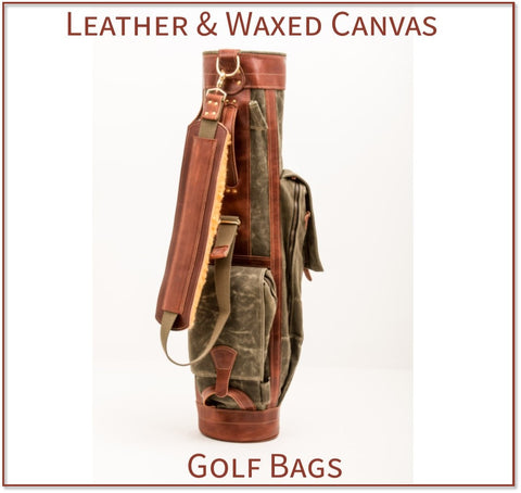 Steurer & Jacoby® Custom Crafted Leather and Waxed Canvas Golf Bags