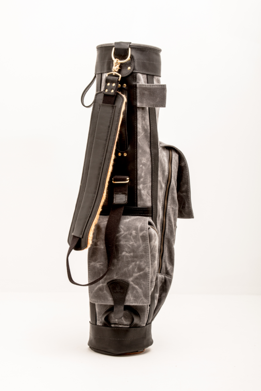 Leather And Canvas Airliner Golf Bag For Modern And
