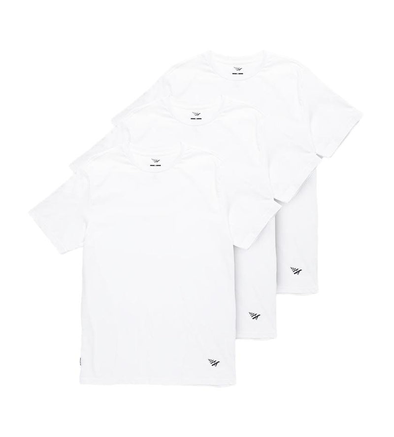 Essential 3 Pack Tees (White)