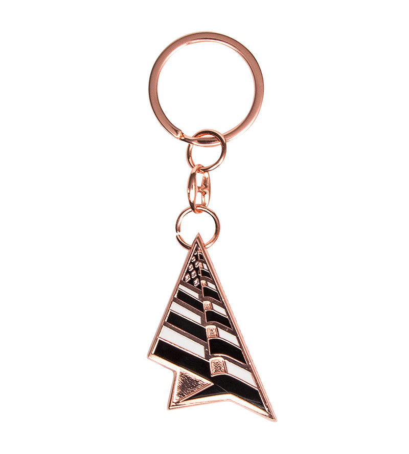 Planes Keychain (Rose Gold)