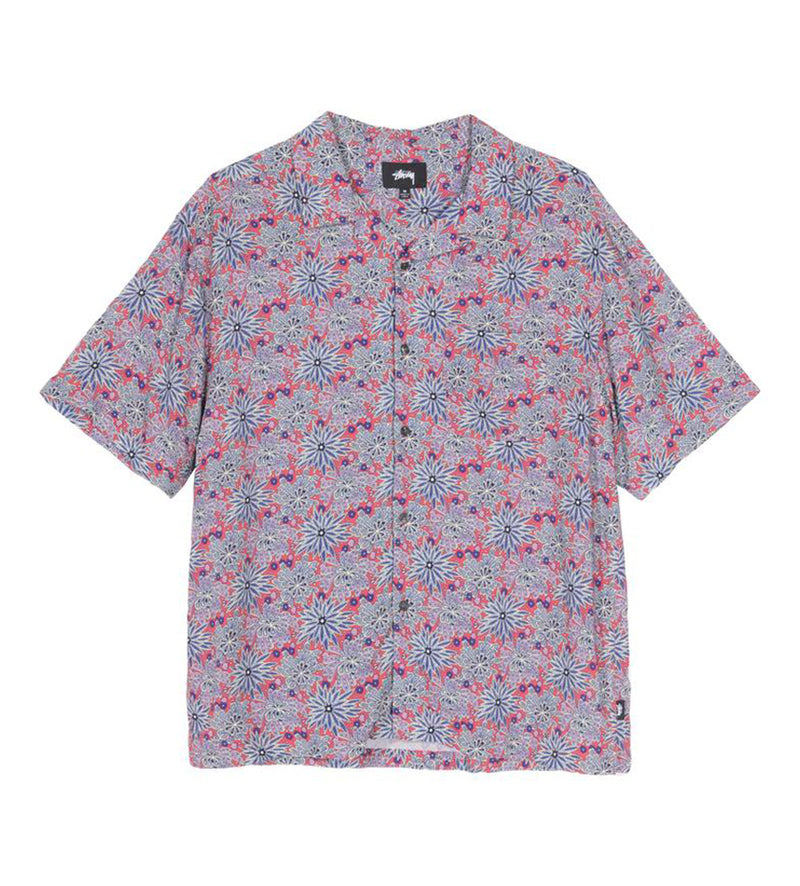 Floral Print Shirt (Red)