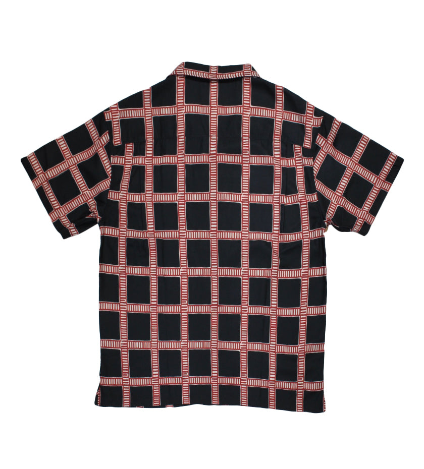 Hand Drawn Plaid Shirt (Black)