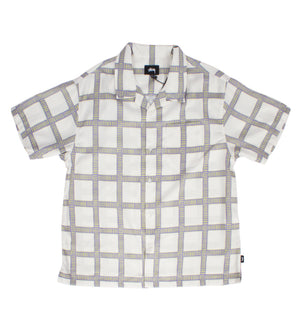 Hand Drawn Plaid Shirt (Off White)
