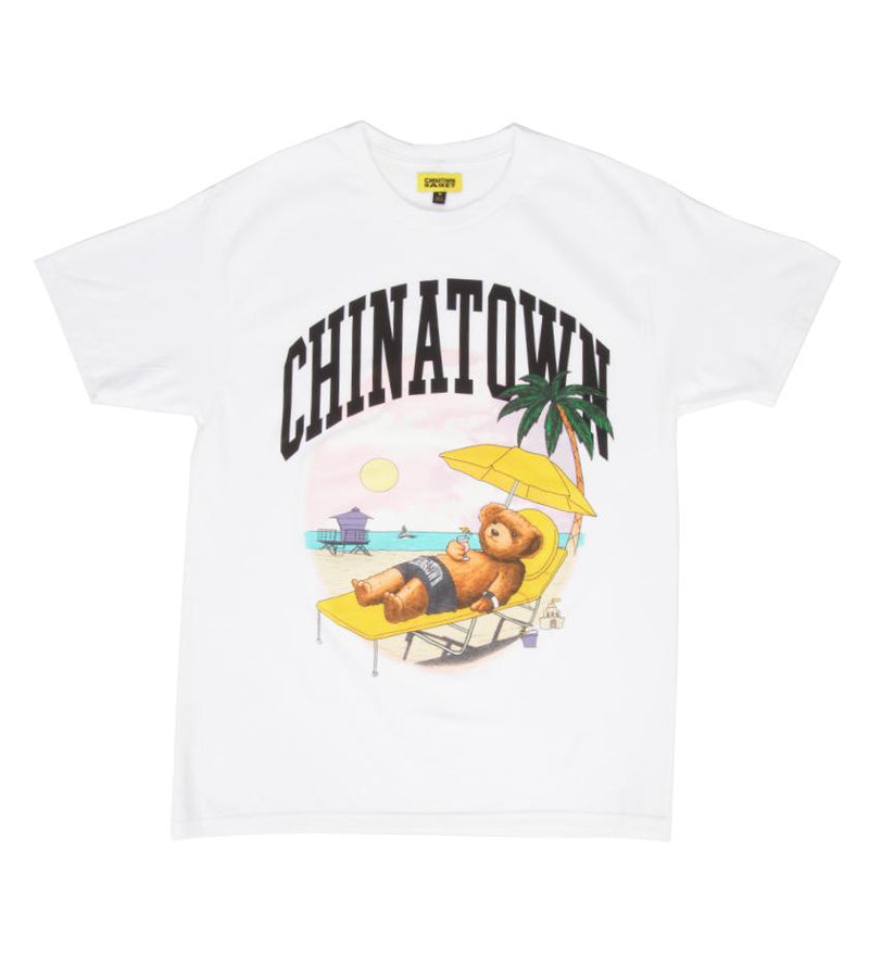 Smiley Beach Bear T-Shirt (White)