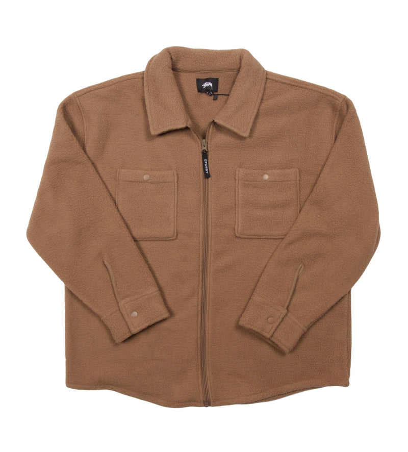 Polar Fleece Zip Shirt (Taupe)