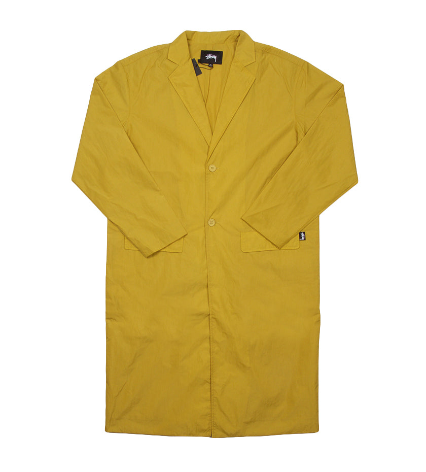 Long Light Nylon Coat (Mustard)