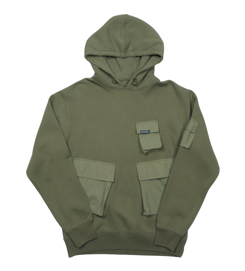 Cargo Fleece Hood (Khaki)