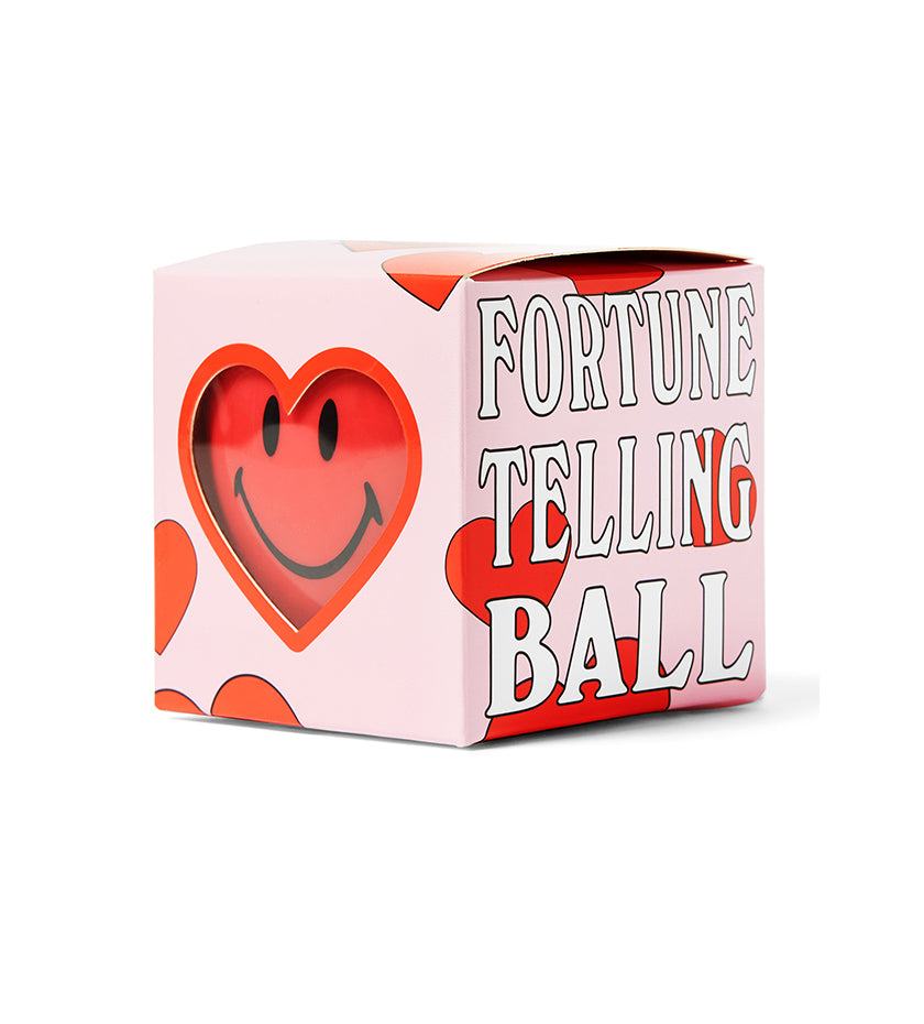 Smiley Love Fortune Telling Ball (Pink Tie Dye)