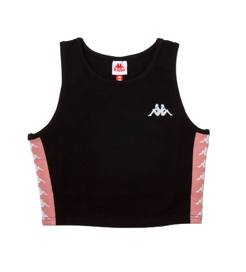 Women's 222 Banda Armenis Crop Tank (Black/Pink/White)