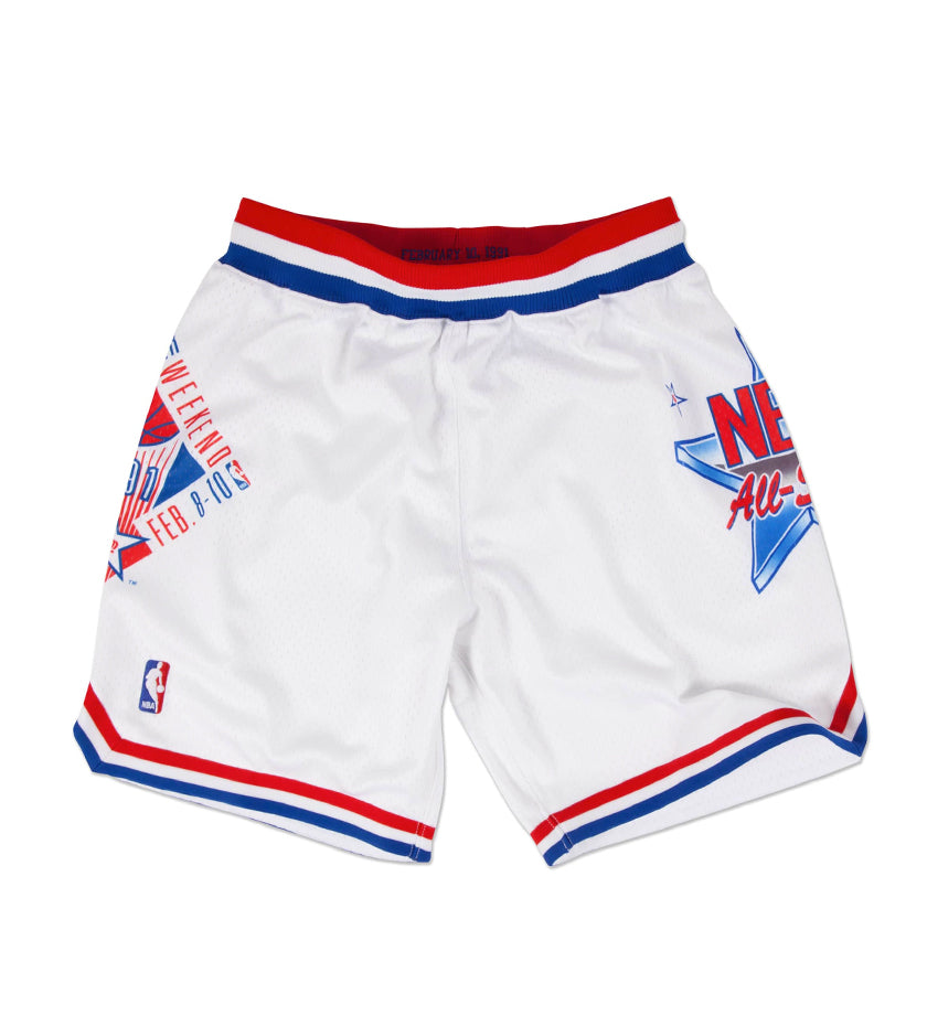 1991 Authentic NBA All-Star Shorts (White)