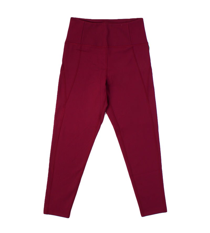 Compressive High-Rise Legging - 7/8 Length (Plum)