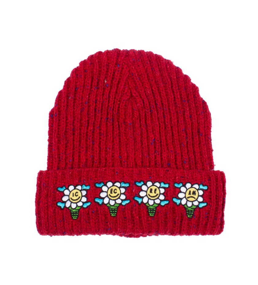 Speck Knit Hat (Fiery Red)