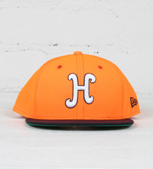 Script H New Era Snapback (Orange/Navy)