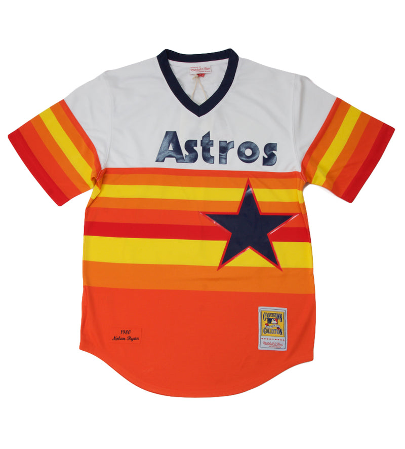 Authentic Nolan Ryan 1980 Astros Jersey (Red/Orange/Yellow/White)