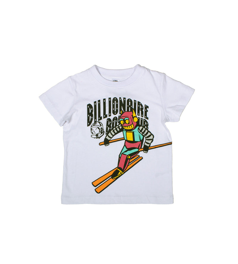 Sloped S/S Kids Tee (White)