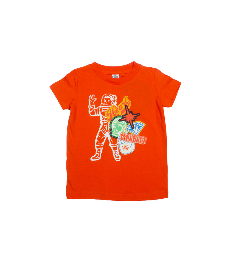 MVP Astronaut S/S Kids Tee (Red Orange)