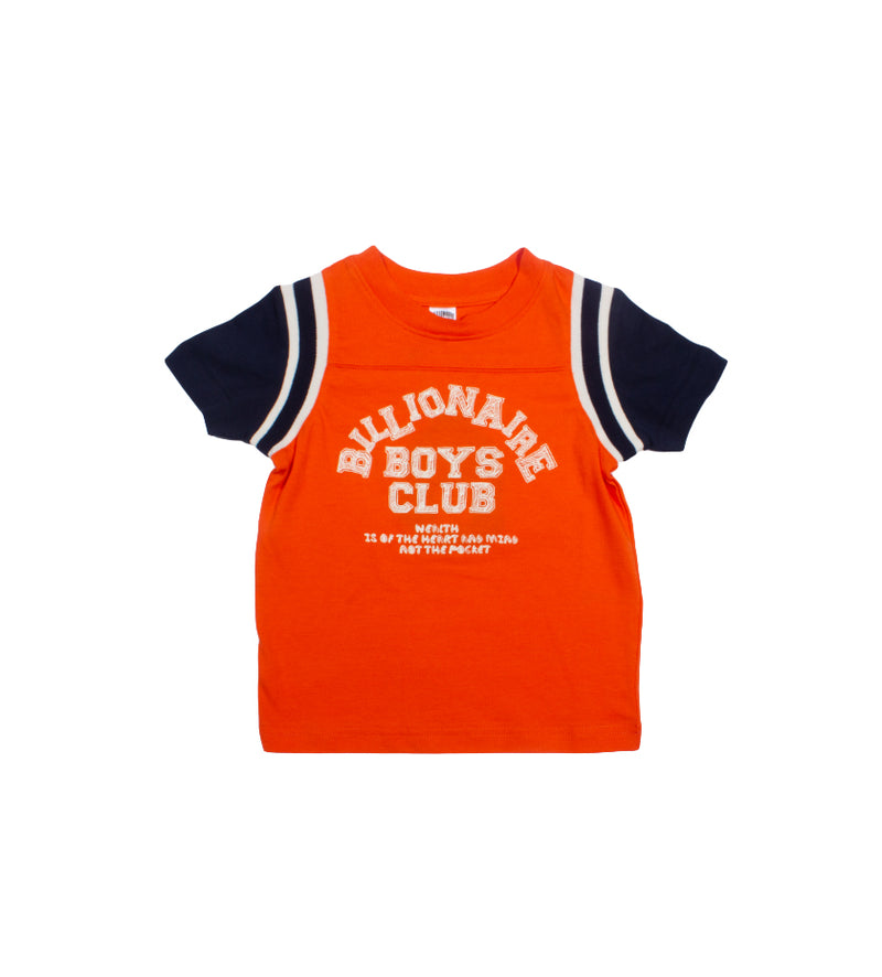 League S/S Kids Knit (Red Orange)