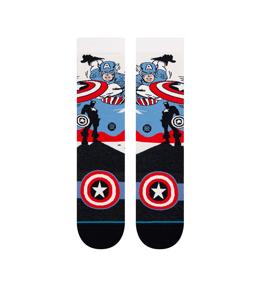 Captain America Marquee Socks (Off White)