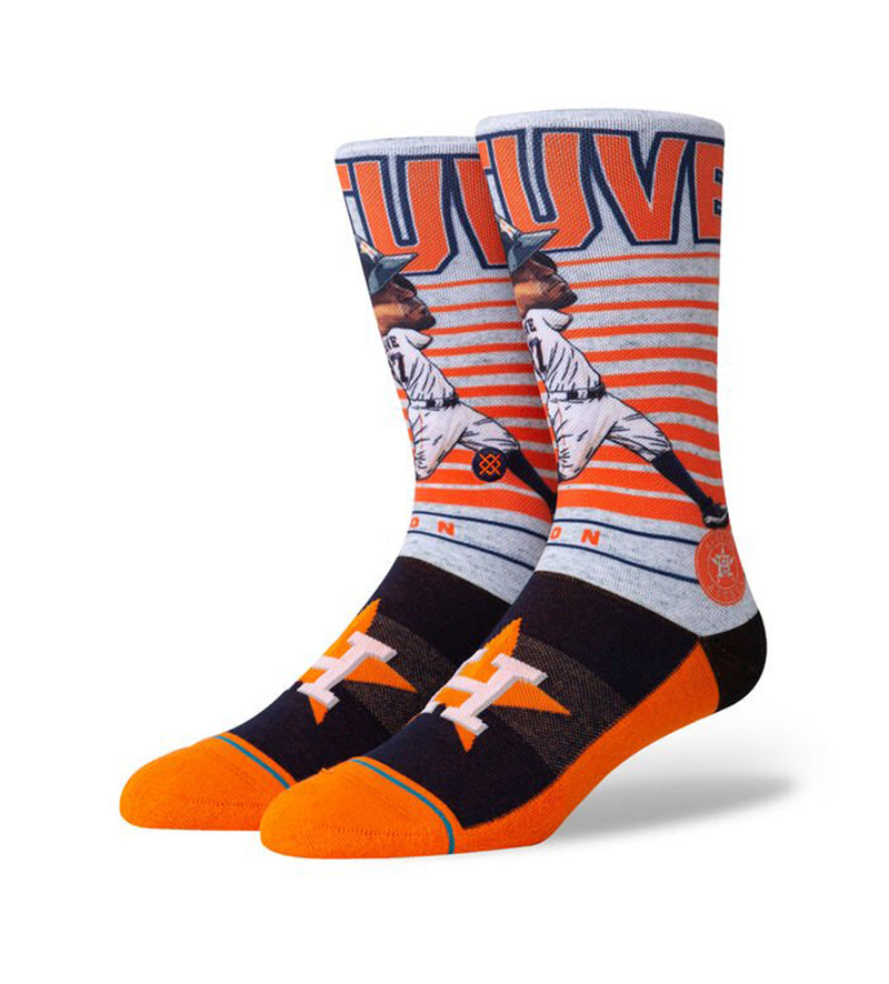 Altuve Big Head Socks (Orange)
