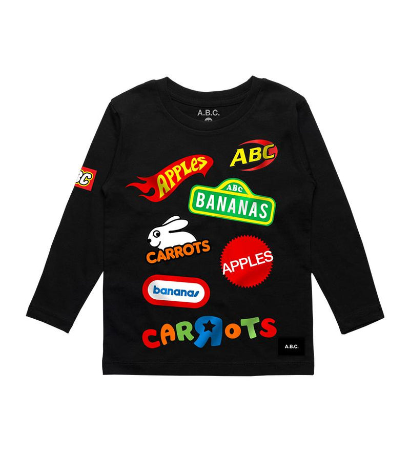 A.B.C. R Us Long Sleeve Tee (Black)
