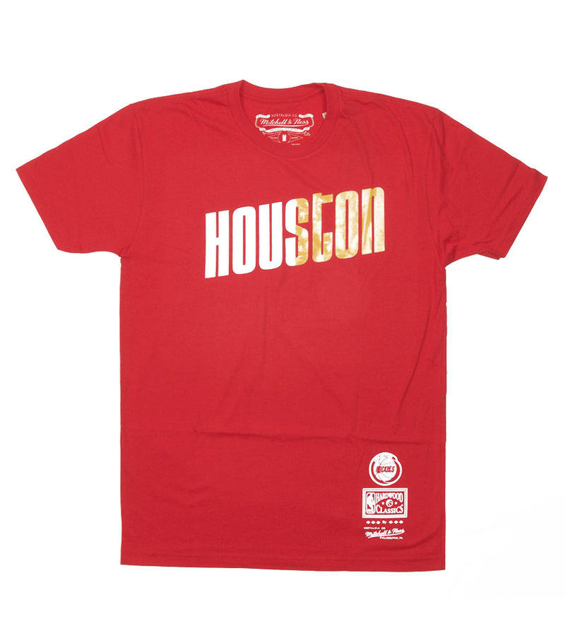 Houston Rockets Home and Away Split Tee (Red)